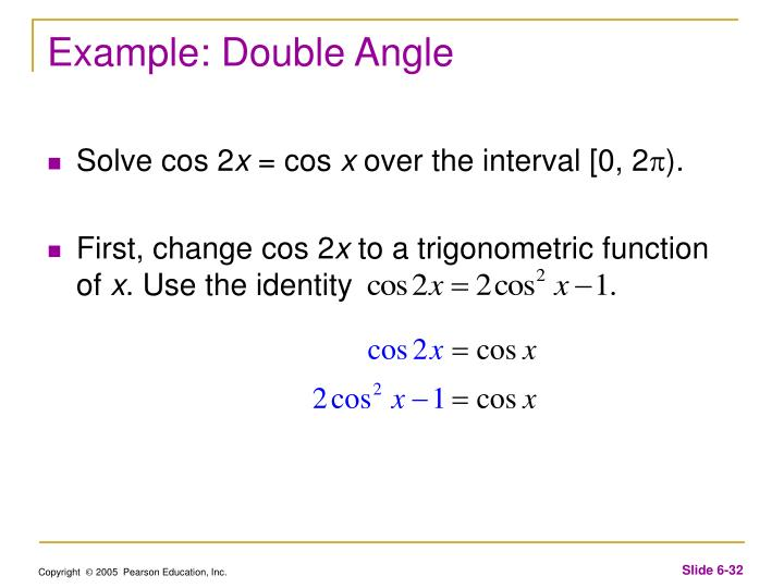 Example: Double Angle