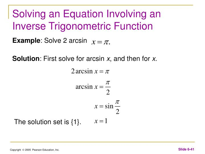 Solving an Equation Involving an Inverse Trigonometric Function