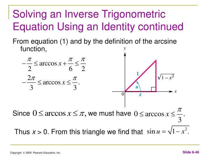Solving an Inverse Trigonometric Equation Using an Identity continued