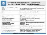 oppisopimuskoulutuksen laadukkaan toteuttamisen tavoitteita finnappre1