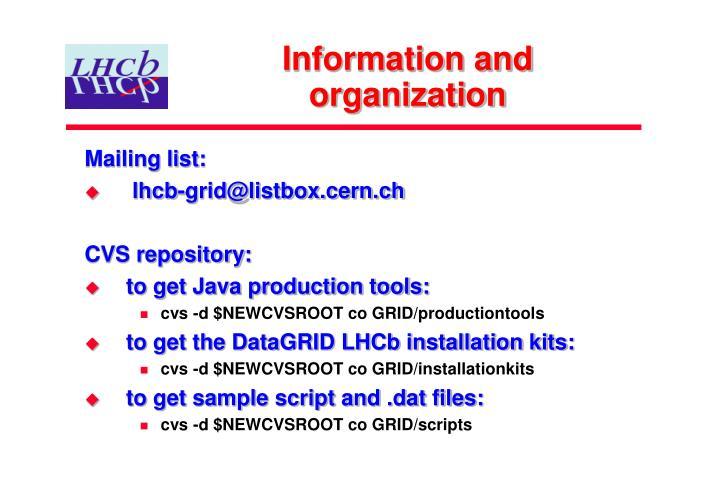 Information and organization