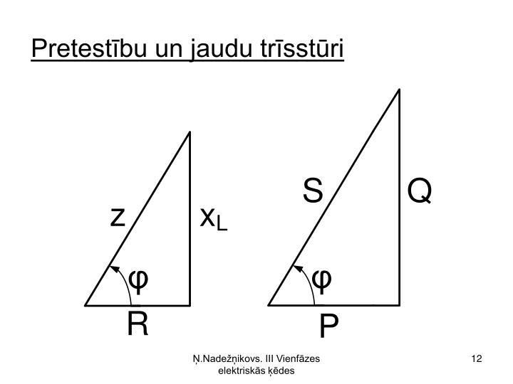 Pretestību un jaudu trīsstūri
