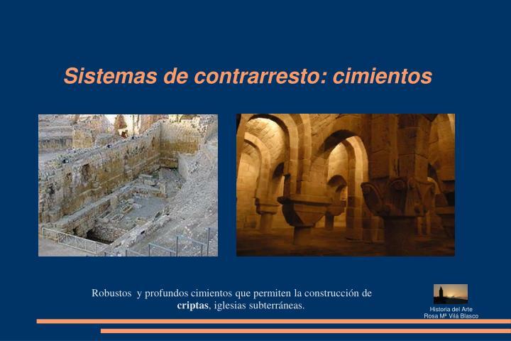 Sistemas de contrarresto: cimientos