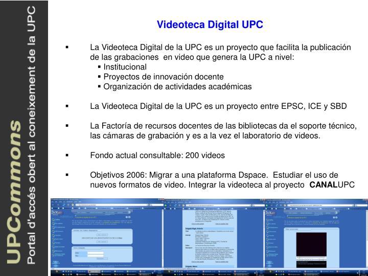 Videoteca Digital UPC