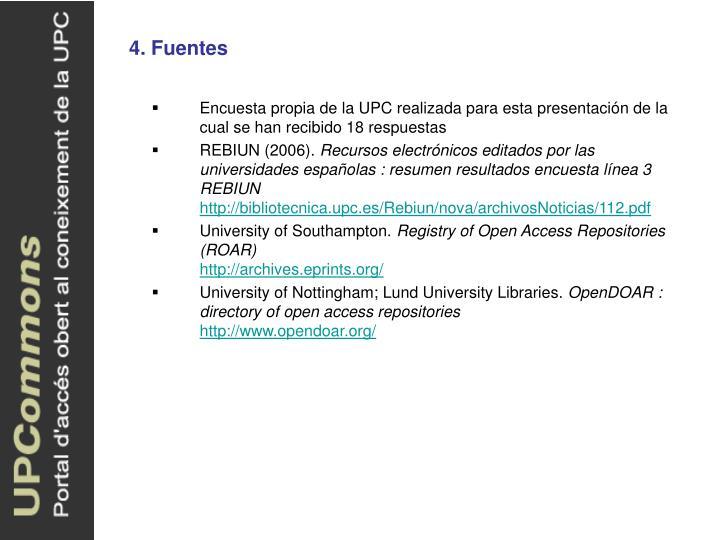 4. Fuentes