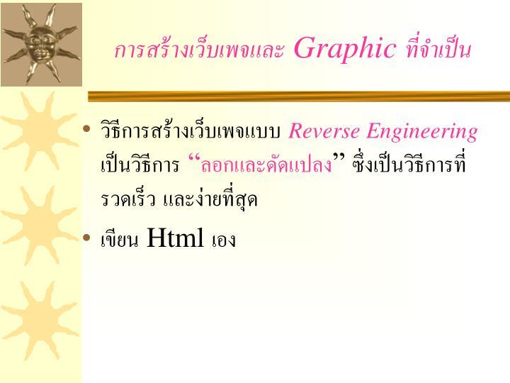 การสร้างเว็บเพจและ Graphic ที่จำเป็น