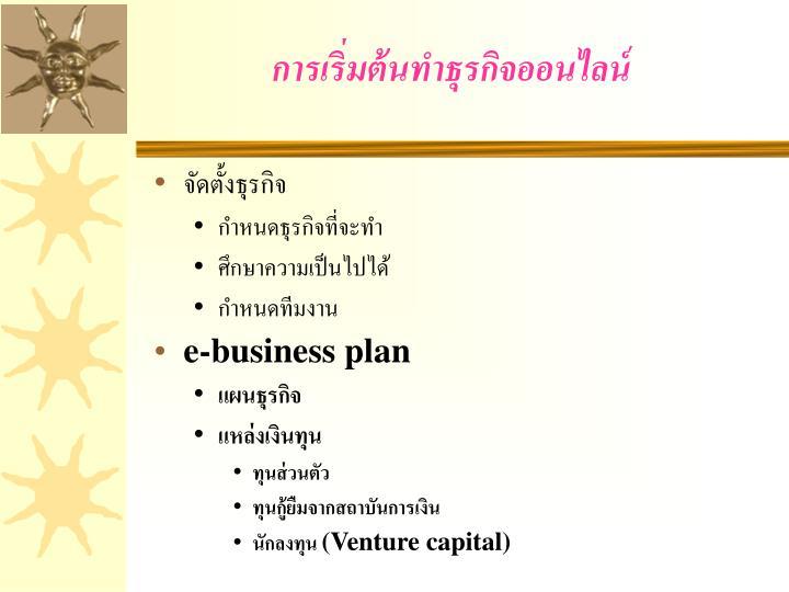 การเริ่มต้นทำธุรกิจออนไลน์