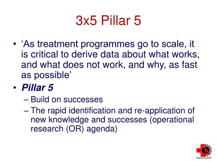 3x5 Pillar 5