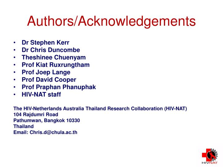 Authors/Acknowledgements