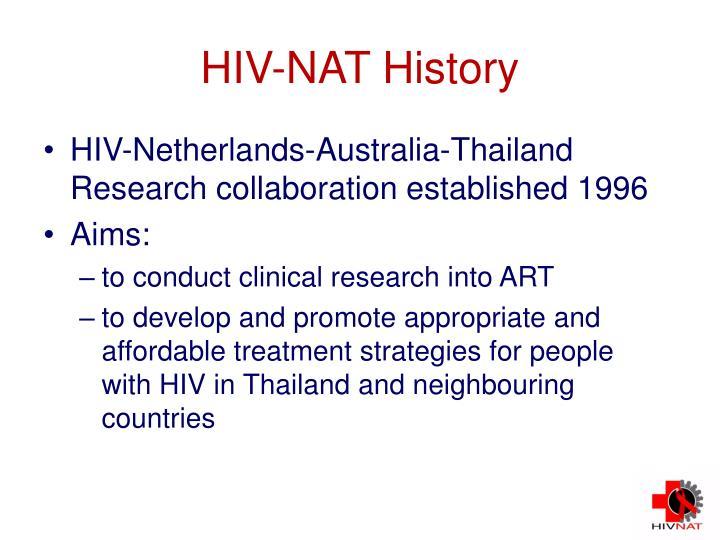 HIV-NAT History
