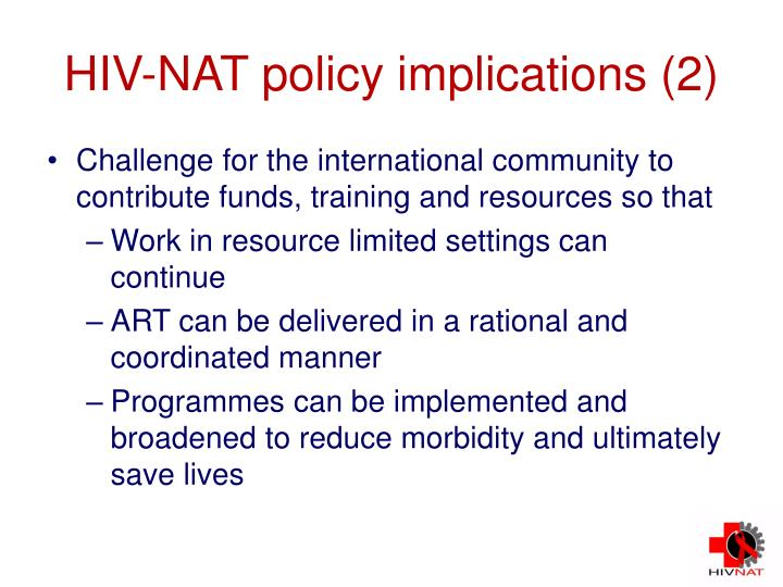 HIV-NAT policy implications (2)