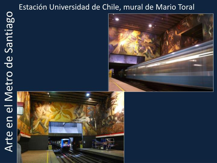 Estación Universidad de Chile, mural de Mario Toral