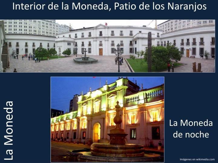 Interior de la Moneda, Patio de los Naranjos