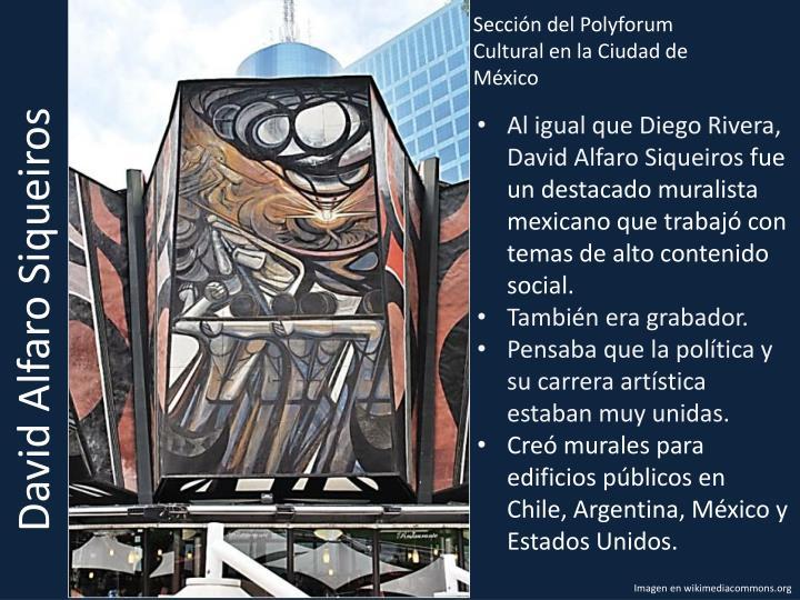 Sección del Polyforum Cultural en la Ciudad de México