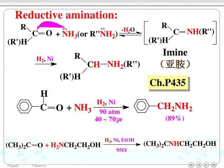 Reductive amination: