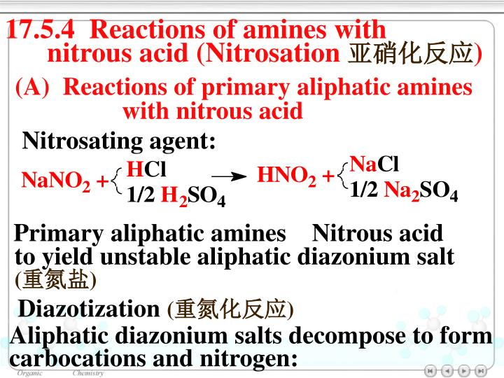 17.5.4  Reactions of amines with
