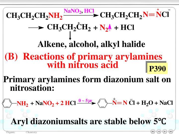 Alkene, alcohol, alkyl halide