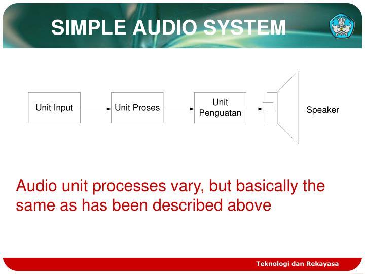 SIMPLE AUDIO SYSTEM