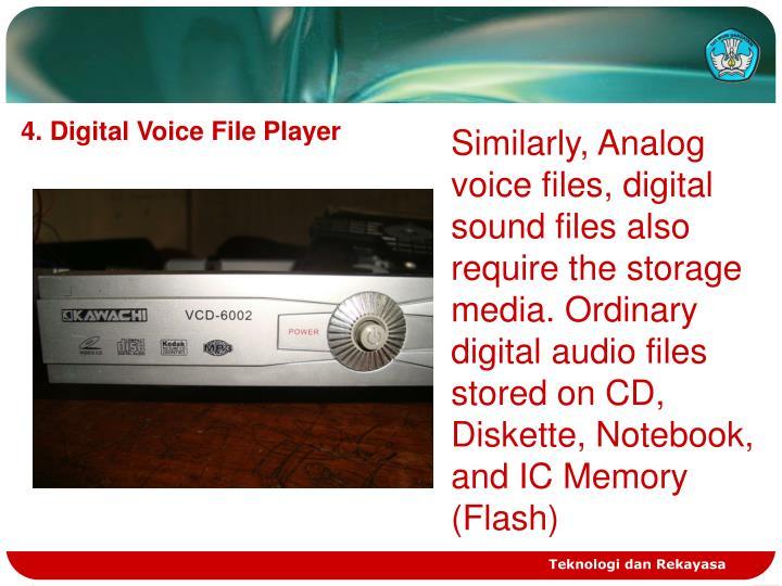 4. Digital Voice File Player