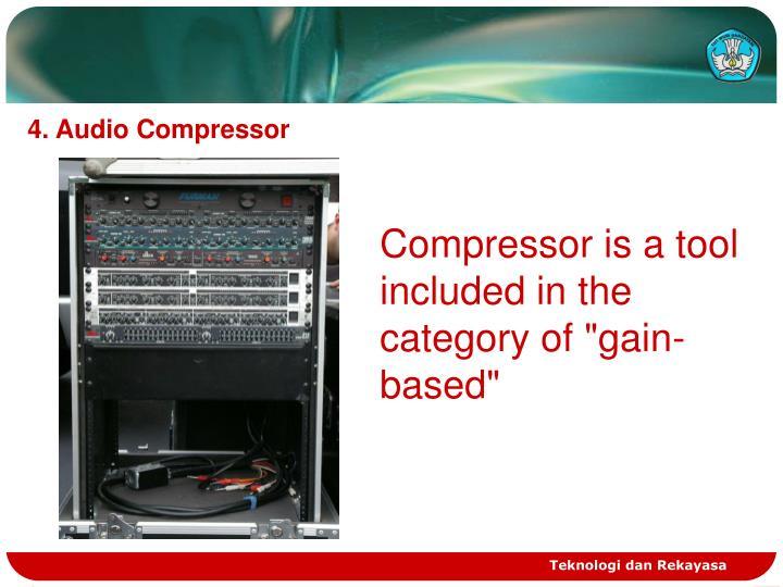 4. Audio Compressor