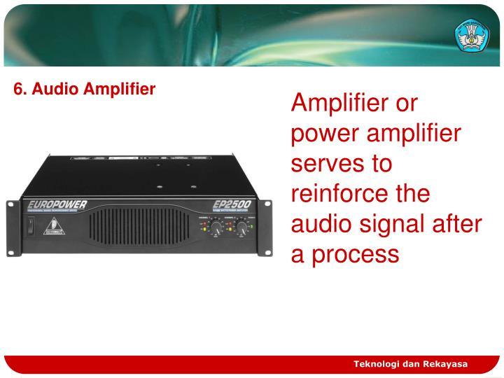 6. Audio Amplifier