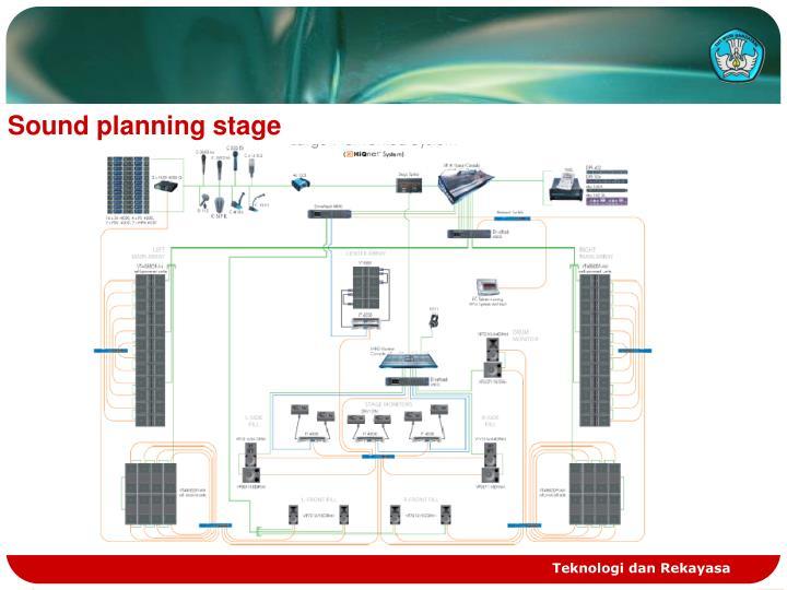 Sound planning stage