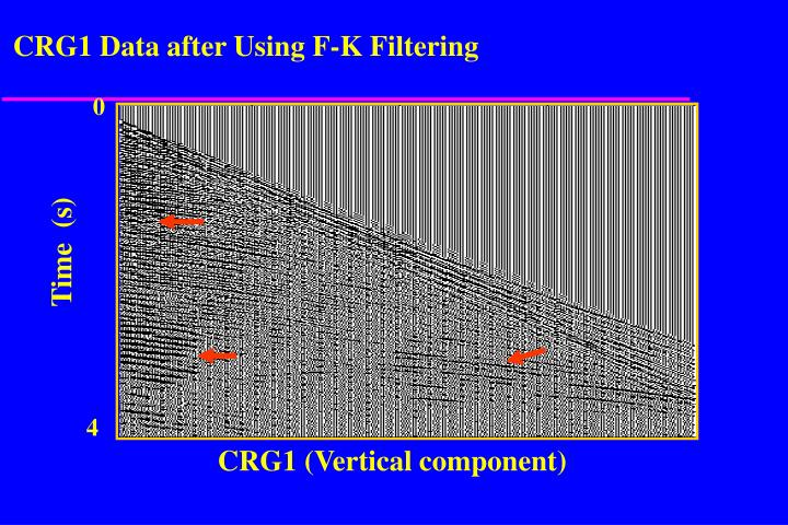 CRG1 Data after Using F-K Filtering