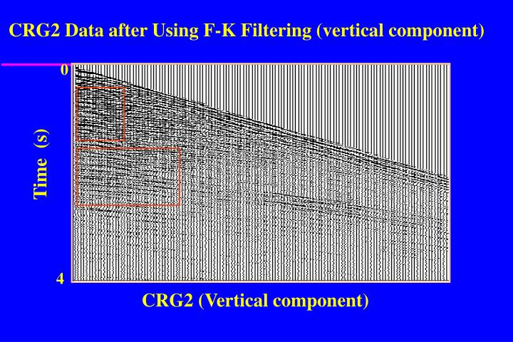 CRG2 Data after Using F-K Filtering (vertical component)