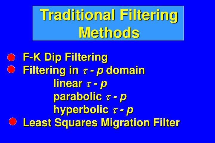 Traditional Filtering Methods