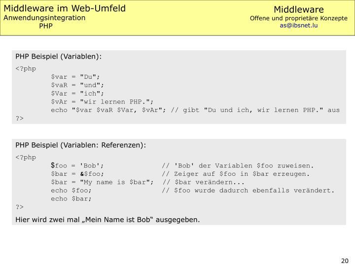 Middleware im Web-Umfeld