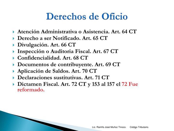 Derechos de Oficio