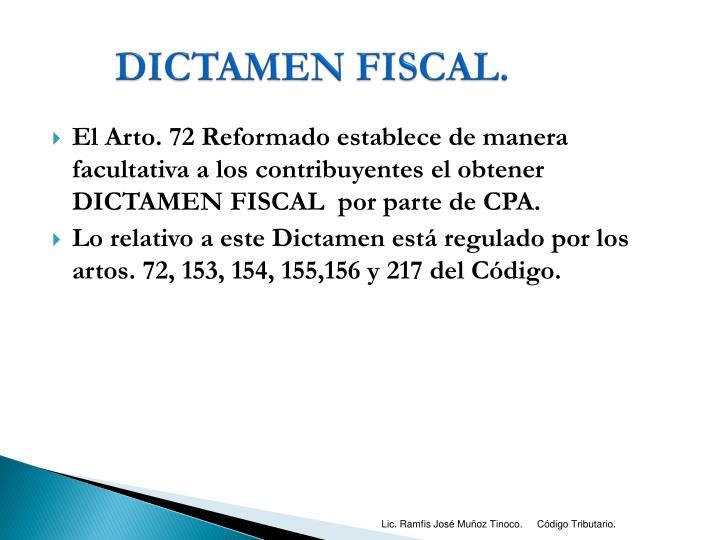 DICTAMEN FISCAL.