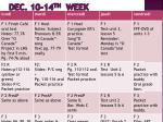 dec 10 14 th week
