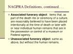 nagpra definitions continued