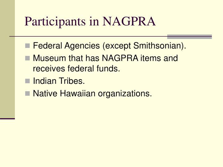 Participants in NAGPRA