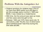 problems with the antiquities act
