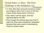 united states vs diaz the first challenge to the antiquities act