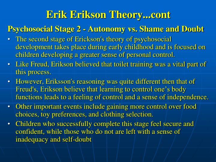 Erik Erikson Theory...cont