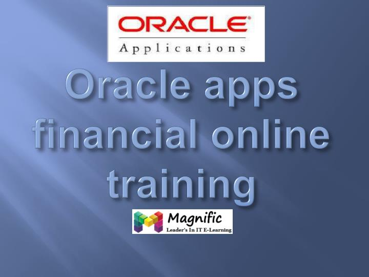 oracle apps financial online training n.