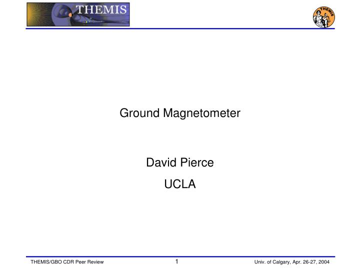 Ground magnetometer