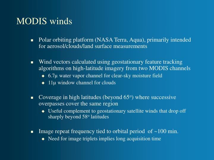 Modis winds