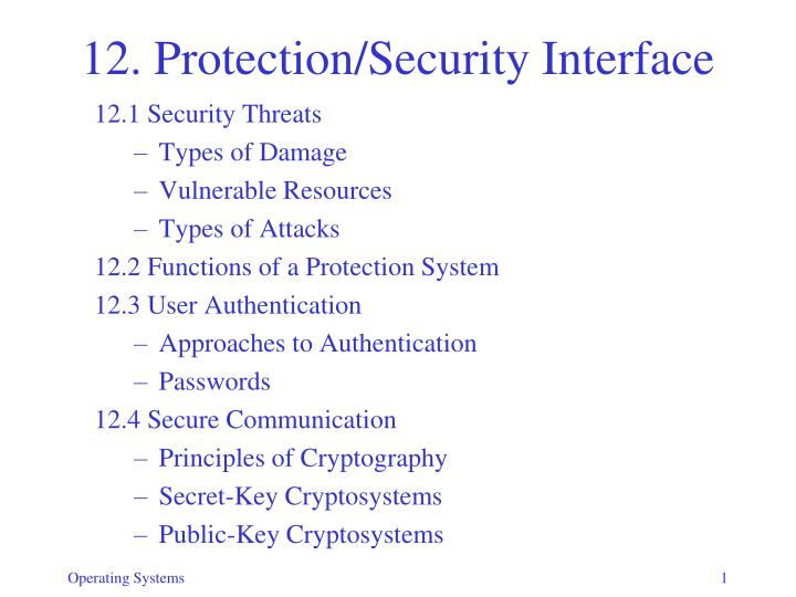12 protection security interface n.