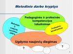 metodinio darbo kryptys