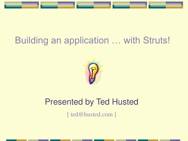 building an application with struts n.