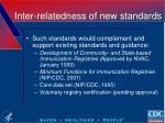 inter relatedness of new standards