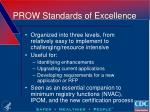 prow standards of excellence1
