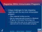 registries within immunization programs