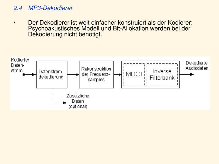 2.4MP3-Dekodierer
