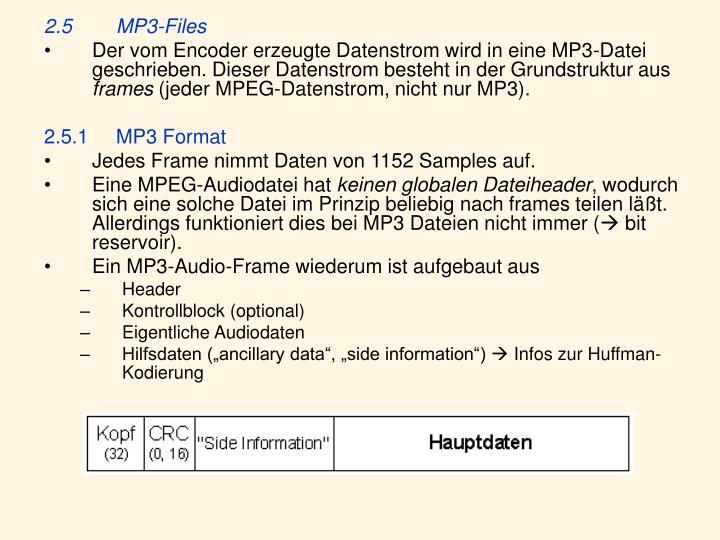 2.5MP3-Files