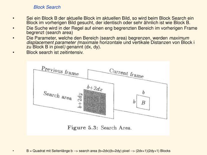 Block Search